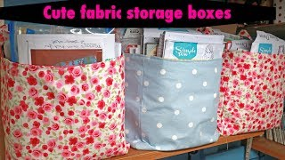 Sew Fabric Boxes. Debbie Shore Fabric Boxes