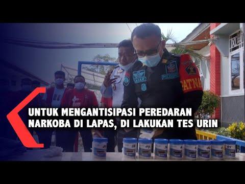 untuk mengantisipasi peredaran narkoba di lapas di lakukan tes urin