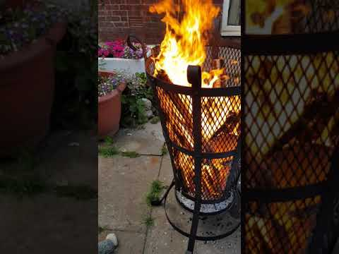 Medival fire basket with bbq grill