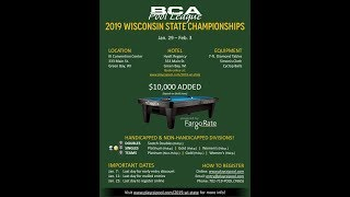 2019 BCAPL Wisconsin State Championships Scotch Doubles Stites/Waak VS Coller/Emmering