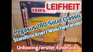 Leifheit Wäsche- Standtrockner Pegasus 180 Solid Classic [Unboxing & erster Eindruck]