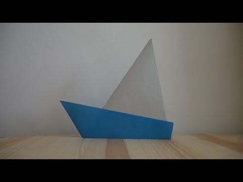 Оригами. Как сделать парусник из бумаги (видео урок)