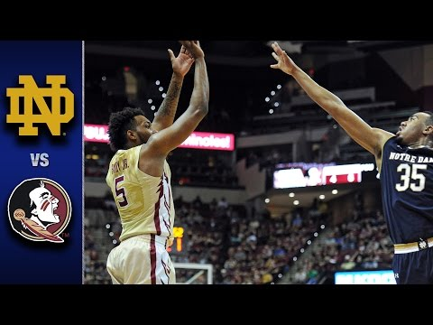Notre Dame vs. Florida State Men's Basketball Highlights (2016-17)