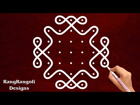 dotted rangoli design sikku kolam for poojas by rangrangoli designs