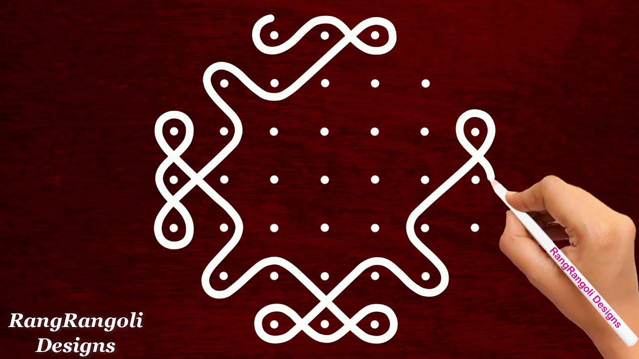 dotted rangoli design sikku kolam for poojas by rangrangoli designs