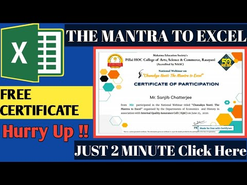 Free Online Excel Certificate 2021 | Free Excel Training Certificate ...
