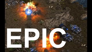 EPIC- Light (T) V Pure (P) On Fighting Spirit - StarCraft  - Brood War REMASTERED
