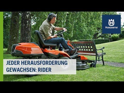 Aufsitzmäher, die jeder Herausforderung gewachsen sind: Rider I Husqvarna Rasen