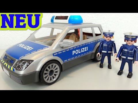 Playmobil Polizei Einsatzwagen 6873 auspacken seratus1 Neuheit 2016