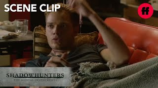 Shadowhunters | Season 1, Episode 11: Jace & Clary Kiss | Freeform