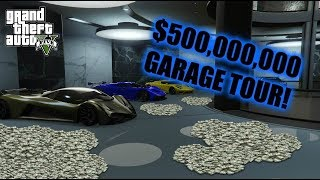 GTA 5 - $500,000,000 GARAGE TOUR!! OVER 170 VEHICLES!! (GTA 5 Online)