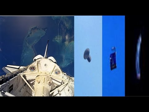 Three Objects Marked As Unknown Recorded Out Space Shuttle Window In Orbit