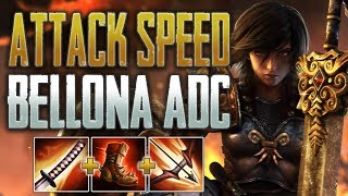 Bellona ADC is OP! SMITE Conquest   Attack Speed Bellona Gameplay