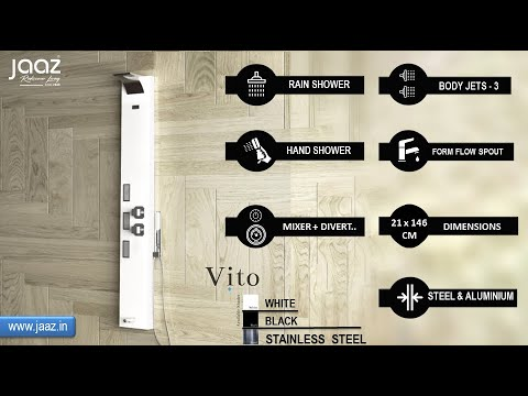 Vito Black Shower Panel