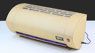 How To Make Mini Bed Room AC From Cardboard At Home