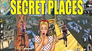 TOP 4 SECRET  PLACES IN BERMUDA MAP PART 2 | NEW SECRET PLACES FREE FIRE