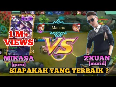 Perbedaan Gameplay Fanny MIKASA dan ZXUAN - GURU VS MURID_Duel Skylark | Mobile Legends