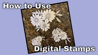 Digital Stamps Tutorial/How To Print And Cut Using A Cricut