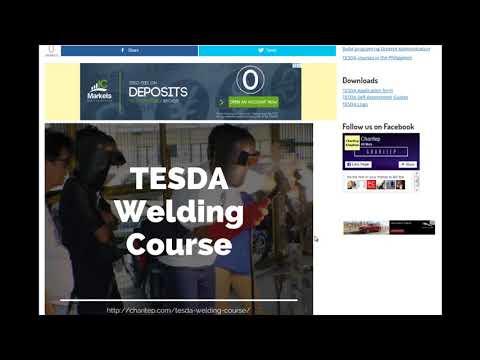 TESDA Welding course 2019