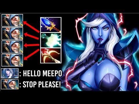 SEXY HERO To COUNTER Meepo Ez! Epic Pro Drow Ranger Electric Split Shot Crazy Comeback Dota 2
