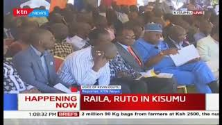 DP Ruto and Raila Odinga attends the Installation of the new Arch Bishop Philip Anyolo in Kisumu