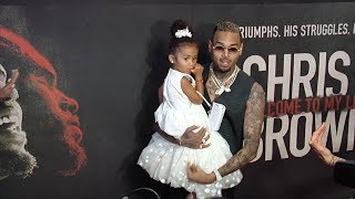 "Chris Brown with Daughter Royalty ""Welcome to my Life"" Premiere"