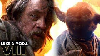 Luke & Yoda Deleted Scene Explained! Star Wars The Last Jedi