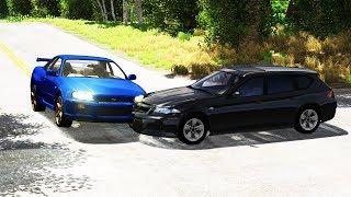 Crossroad Car Crashes Compilation #15 - BeamNG.Drive •ShowMik