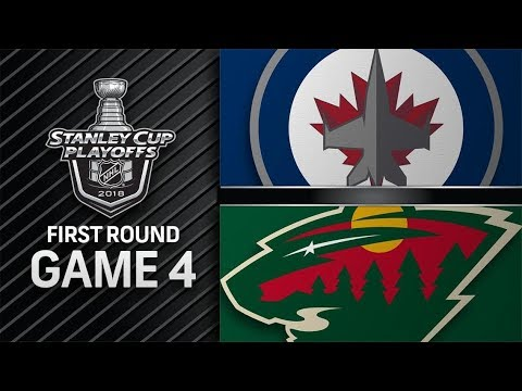 Winnipeg Jets vs Minnesota Wild – Apr. 17, 2018 | Game 4 | Stanley Cup 2018. Обзор