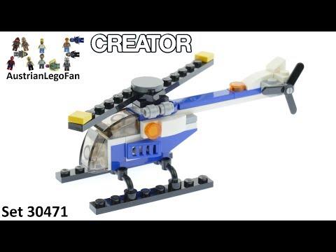 Vidéo LEGO Creator 30471 : L'hélicoptère (Polybag)