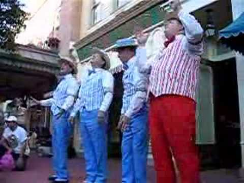 I'm singing lead here with The Dapper Dans of Main Street USA at Walt Disney World's Magic Kingdom.