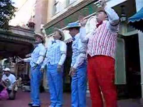 I'm singing lead here with The Dapper Dans of Main Street USA at Walt Disney World's Magic Kingdom.