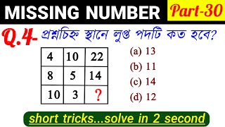 Missing Number Reasoning Tricks in Bengali for SSC, GROUPD & all Exams