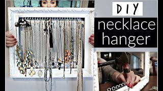 DIY Necklace Hanger ♡ EASY & CHEAP! ♡ Kristina Hailey