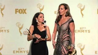 Julia Louis Dreyfus & Allison Janney  Backstage Emmys 2015