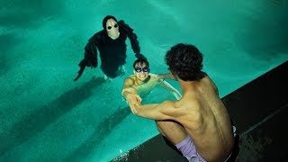 SCARY MONSTER INVADES OUR SWIMMING POOL AT 3AM!