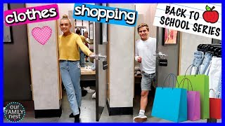 BACK TO SCHOOL CLOTHES SHOPPING! TRYING ON NEW OUTFITS!