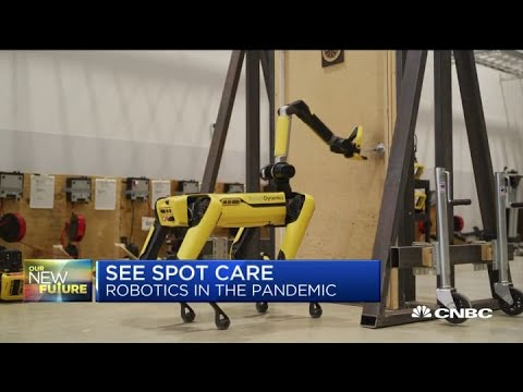 Der Roboter Spot bekommt einen Arm und ein Ladedock