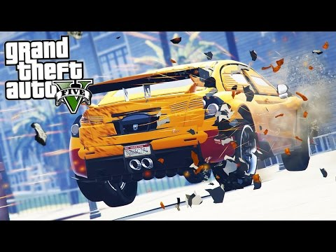 GTA 5 STUNTS & FUNNY MOMENTS (GTA V Crash Compilation)