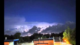 preview picture of video 'krasses Gewitter Blitze Thunderstorm August 2014 timelapse'