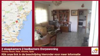 preview picture of video '3 slaapkamers 2 badkamers Dorpswoning te Koop in Country House, Rafal, Alicante, Spain'