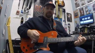 ZZ Top , Jesus just left Chicago Open G tuning guitar lesson