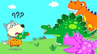 Wolf Family🌞 Who Is the Mother of the Baby Dinosaur?   Pretend to Play With Toys