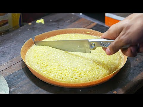 Indonesian Street Food – Chocolate Cheese Martabak Dessert