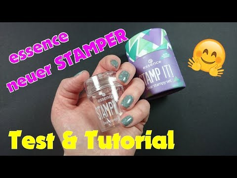 essence stamping set (neuer clear stamper 2018 | deutsch)