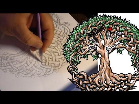 Keltischer Lebensbaum | Zeichnung / Tattoo Design | Speed Drawing Step by Step