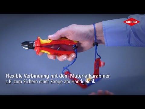 KNIPEX Tethered Tools Werkzeug-Sicherungssystem für Werkzeuge mit Befestigungsöse
