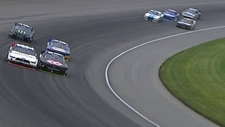 NASCAR - Michigan2015 Xfinity Logano and Harvick Collide