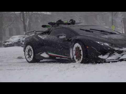 КЛАССНАЯ МУЗЫКА   ЗИМНИЙ ДРИФТ НА Lamborghini Huracan