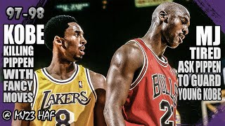 Kobe Bryant vs Michael Jordan Highlights (1998.02.01) - 51pts All! Kobe Killing Pippen!